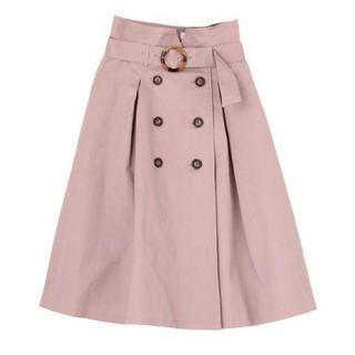 ダズリン(dazzlin)のダズリン トレンチスカート ピンク(ひざ丈スカート)