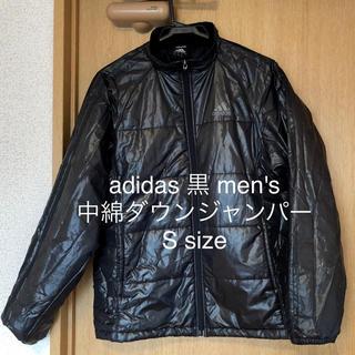 adidas - アディダス 黒 中綿ダウンジャケット ジャンパー ブルゾン S~M位