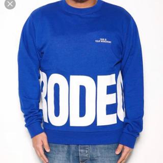 ロデオクラウンズワイドボウル(RODEO CROWNS WIDE BOWL)のロデオ★ メンズ ラウンド ロゴ ビッグ トップス(スウェット)