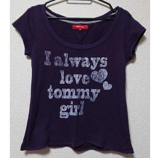 トミーガール(tommy girl)のtommy girl☆半袖トレーナー☆パープル(トレーナー/スウェット)