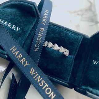 ハリーウィンストン(HARRY WINSTON)の【10/31迄】最高級モアサナイト 18金 ハリー ハートシェイプ リング(リング(指輪))