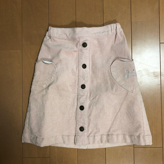 サンカンシオン(3can4on)の3can4on ハートポケットコーデュロイスカート130(スカート)