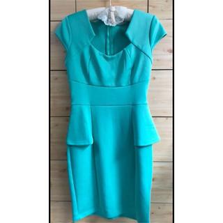 ドレス ワンピース ミントグリーン ブルー