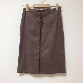 ストラ(Stola.)のスエードスカート★ストラ(ひざ丈スカート)