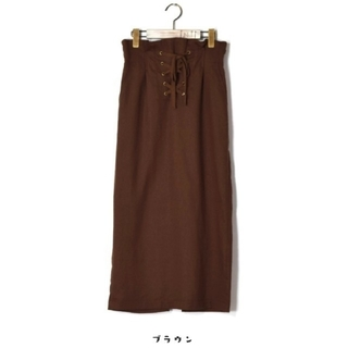 w closet - w Closet♡レースアップペンシルロングタイトスカート