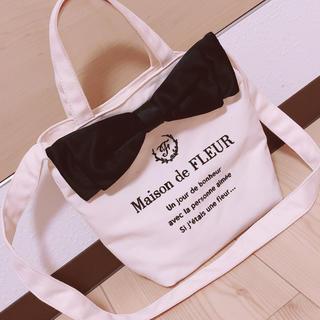 Maison de FLEUR - メゾンドフルール 6周年限定 キャンパスショルダートートバック