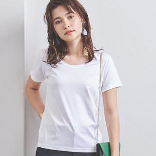 UNITED ARROWS - 送料込☆UNITEDARROWS Uネック ホワイト白Tシャツ