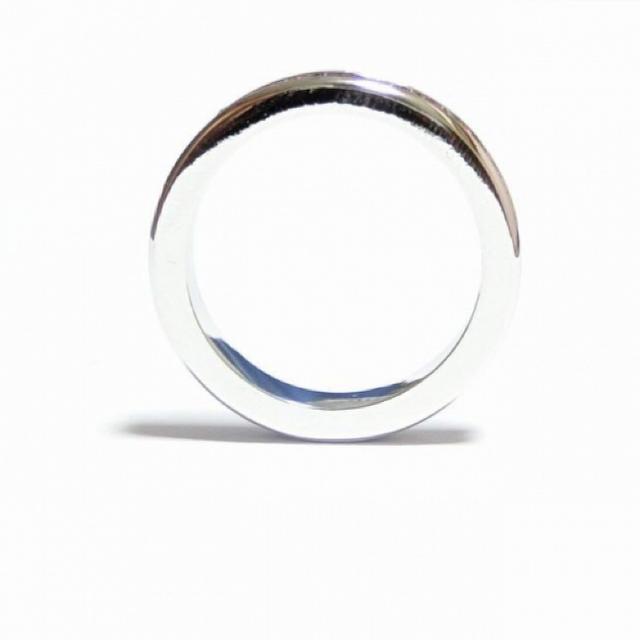 3号 フルエタニティ スワロフスキー ジェット シルバーリング レディースのアクセサリー(リング(指輪))の商品写真