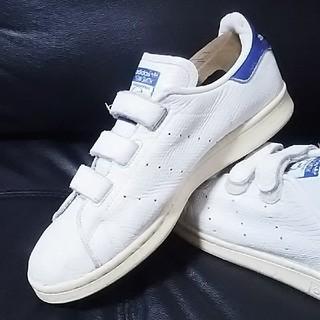 アディダス(adidas)の 超希少スネーク!アディダススタンスミスベルクロスニーカー白青!ビンテージ  (スニーカー)