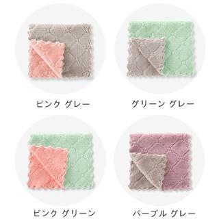 キッチン吸水タオル 4点セット 布巾 雑巾 ふきん ぞうきん 速乾 強吸水性 (その他)