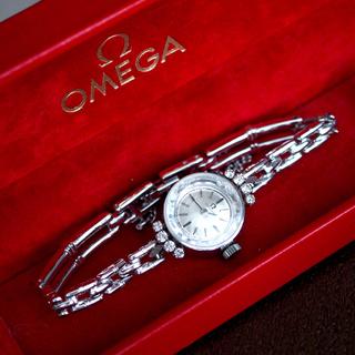 OMEGA - 美品✨OMEGA プラチナ PT950 8粒ダイヤ 時計✨ロレックス カルティエ