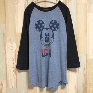 Disney - アメリカ古着 ミッキーマウス  Mickey Mouse Disney ロンT