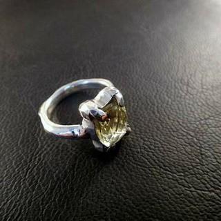 レモンクォーツ 凸凹 リング Silver 925 (リング(指輪))