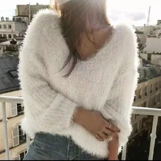 ホワイト★セーター(ニット/セーター)