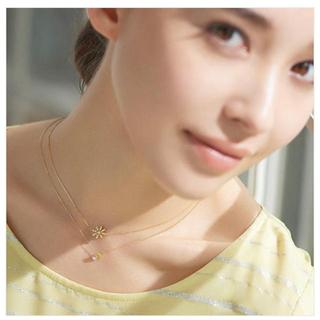 アーカー(AHKAH)のアーカー フルブルームネックレス K18 イエローゴールド ダイヤモンド(ネックレス)