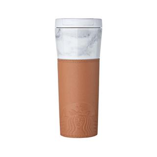 Starbucks Coffee - 韓国 スターバックス マーブル  ホワイト オペラ タンブラー  473ml
