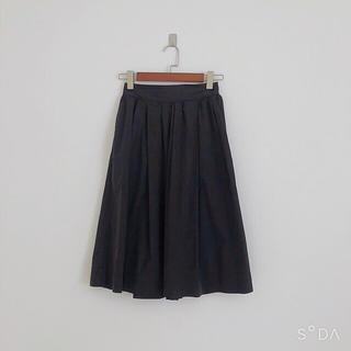 シップス(SHIPS)のタイプライターブラックスカート(ロングスカート)