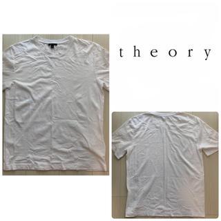 theory - theory ホワイト 無地 tシャツ