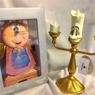 Disney - 【香港ディズニー】 ルミエールのライトとコグスワースの時計 セット