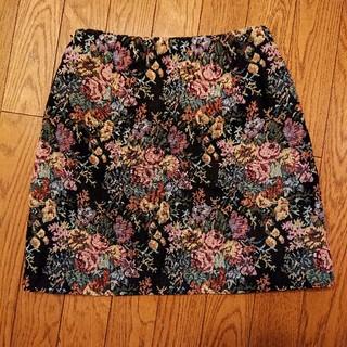 GU - ゴブラン柄ミニスカート