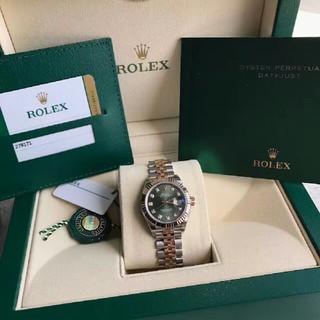 ROLEX - ロレックス279171 Gローズゴールド女子時計オリーブグリーン