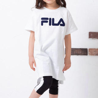フィラ(FILA)の新品 FILA フィラ 限定 半袖 ロゴ Tシャツ ワンピース 100cm(ワンピース)