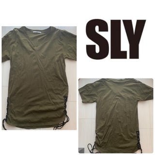 SLY - SLY カーキ ビッグtシャツ