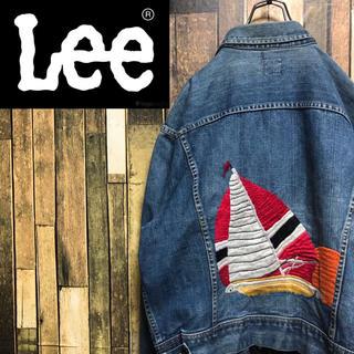 Lee - 【超激レア】リーLee☆USA製101-J黒タグ刺繍入りデニムジャケット 60s