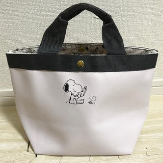 SNOOPY - スヌーピー レザー調トートバッグ