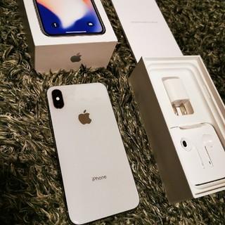 iPhone - iPhone X 256gb シルバー シムフリー化済