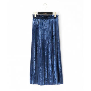 GRACE CONTINENTAL - grace continental ベロアプリーツスカート