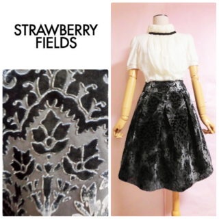 STRAWBERRY-FIELDS - 【ストロベリーフィールズ】フロッキースカート☆きれいめ☆クラシカル