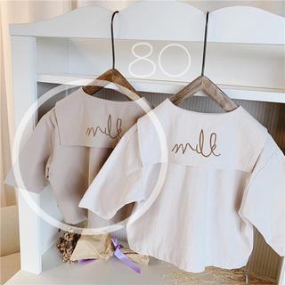 韓国ベビー服❤︎新品 セーラー襟ブラウス【80】ap
