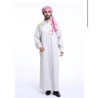 ディズニー(Disney)のアバヤ アラブ メンズ イスラム 衣装 アラビアン アラジン コスプレ(コスプレ)