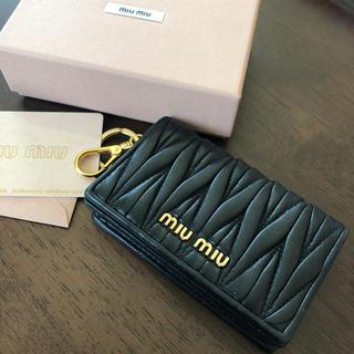 ミュウミュウ(miumiu)のmiumiu*名刺入れ*カードケース(名刺入れ/定期入れ)