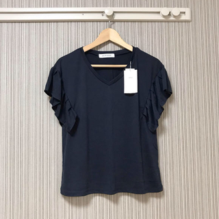 AZUL by moussy - 【タグ付き新品】AZUL BY MOUSSY フレアフレンチスリーブTEE