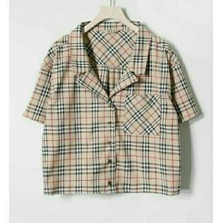 RETRO GIRL - 開襟チェックシャツ