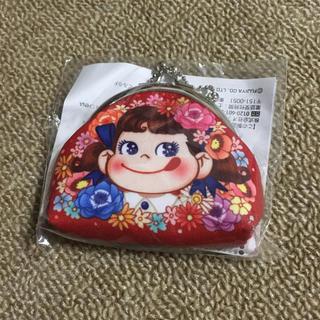 不二家 - ペコちゃんミニがま口赤(非売品)