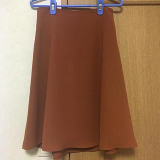 スカート オレンジ(ひざ丈スカート)