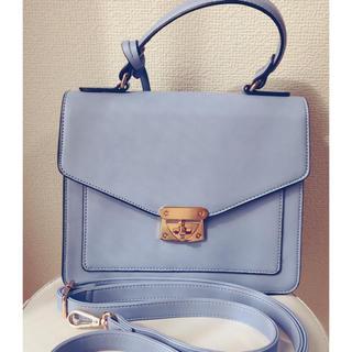 H&M - H&M 2wayショルダーバッグハンドバッグ  ブルー