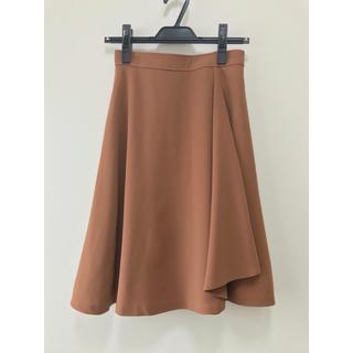 PROPORTION BODY DRESSING - 【美品】ラッフルアシンメトリースカート ブラウン