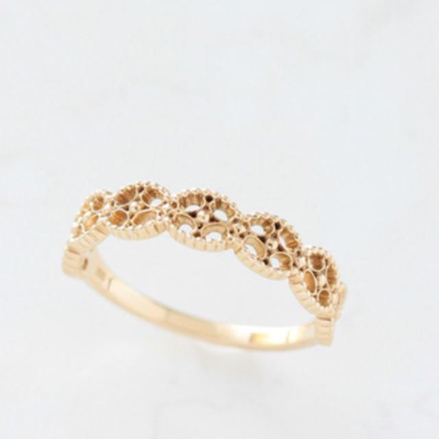 K10 ゴールド リーフ リング レディースのアクセサリー(リング(指輪))の商品写真