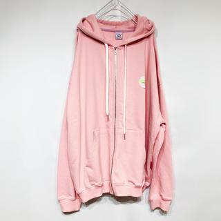 【184】韓国ファッション オーバーサイズ パーカー  ピンク(パーカー)