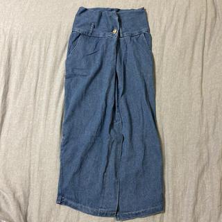 GRL - ロングベルト付ラップデザインデニムタイトスカート