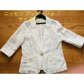 ニッセン - 麻ジャケット PLサイズ 白✩.*˚