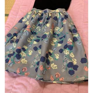 ダズリン(dazzlin)のdazzlin 花柄フレアスカート(ひざ丈スカート)