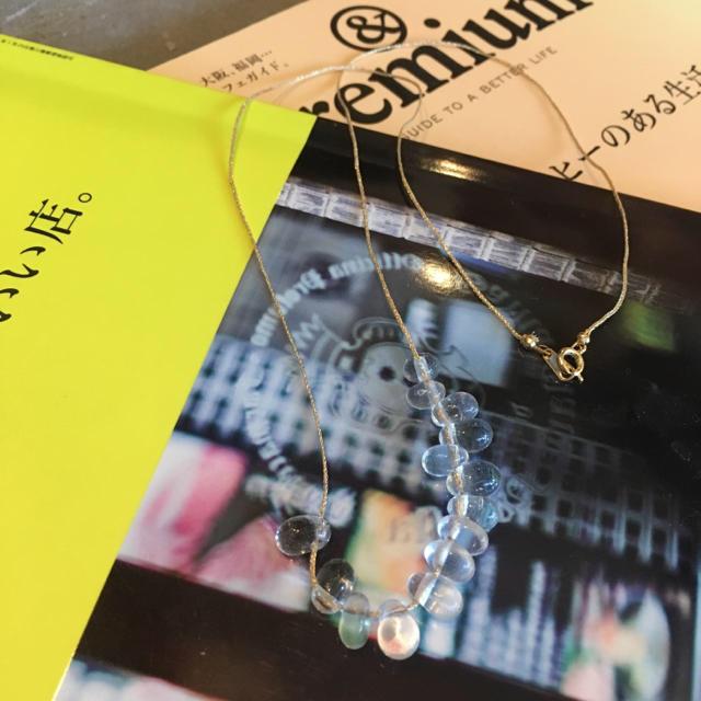 mina perhonen(ミナペルホネン)の雫 ロングネックレス 1300 ハンドメイドのアクセサリー(ネックレス)の商品写真