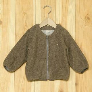 petit main - 【新品未使用】petit main ボア 羽織 ブルゾン ブラウン 120cm