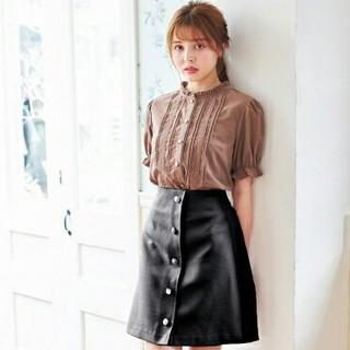 INGNI - 【新品】アソート釦変わり織り台形スカート!!【イング】