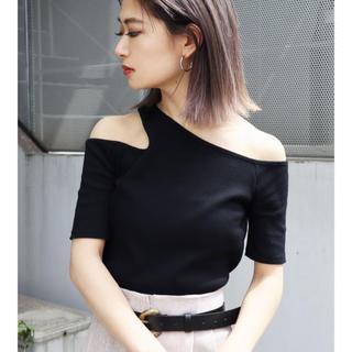エモダ(EMODA)のEMODA サイドネックTシャツ(Tシャツ(半袖/袖なし))
